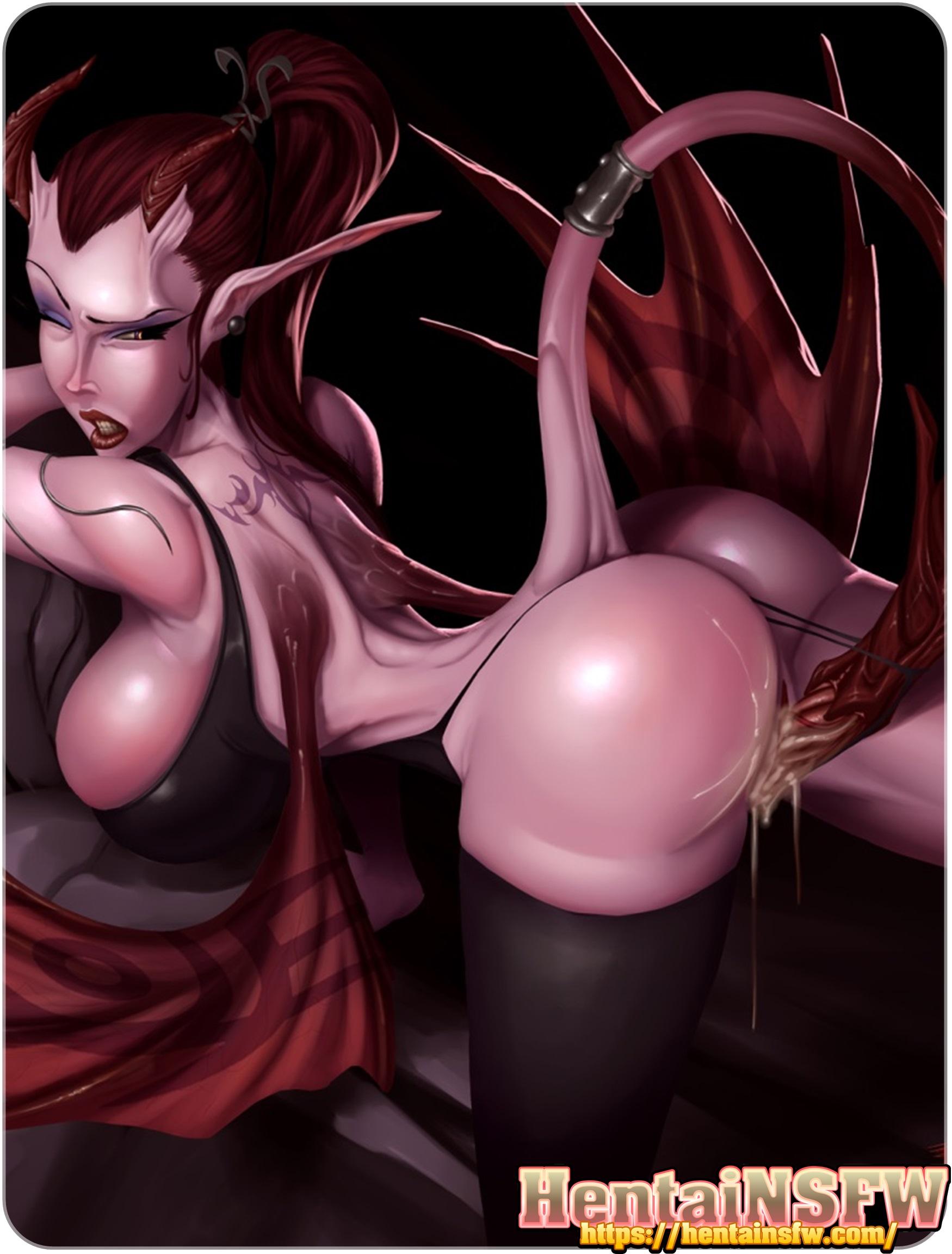 Alien Hentai Anime sexy oppai hentai babe getting penetrateda demonic alien