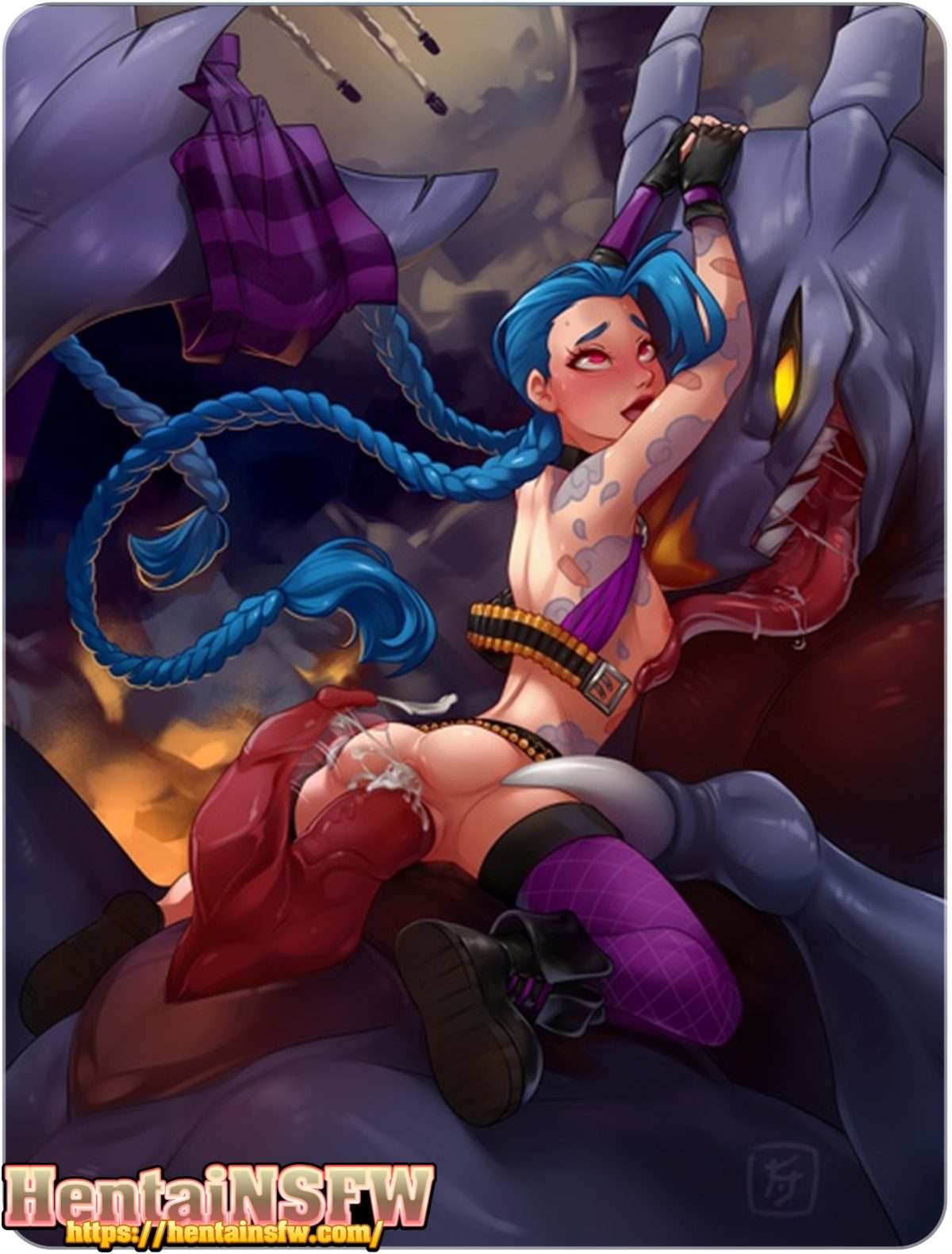 jinx hentai leagueoflegends game porn