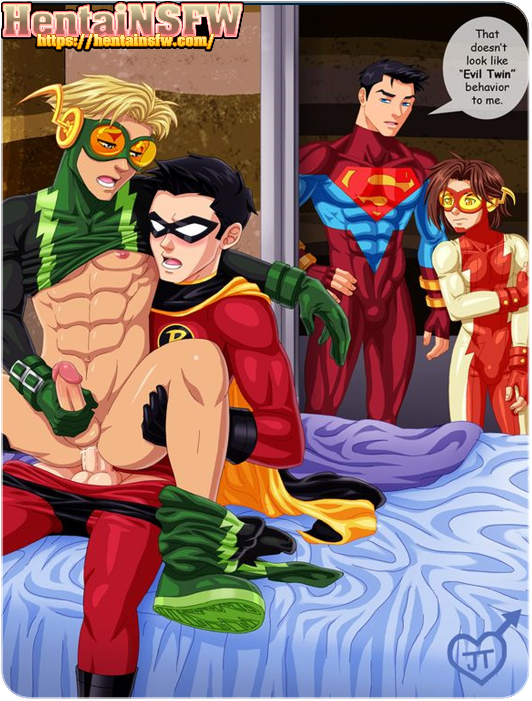 Nsfw Uncensored Teen Titans Go Yaoi Hentai Gay Sex Cartoon Porn Art Of Robin Fucking The Flashs Clone Inertia  Hentai Nsfw-4690