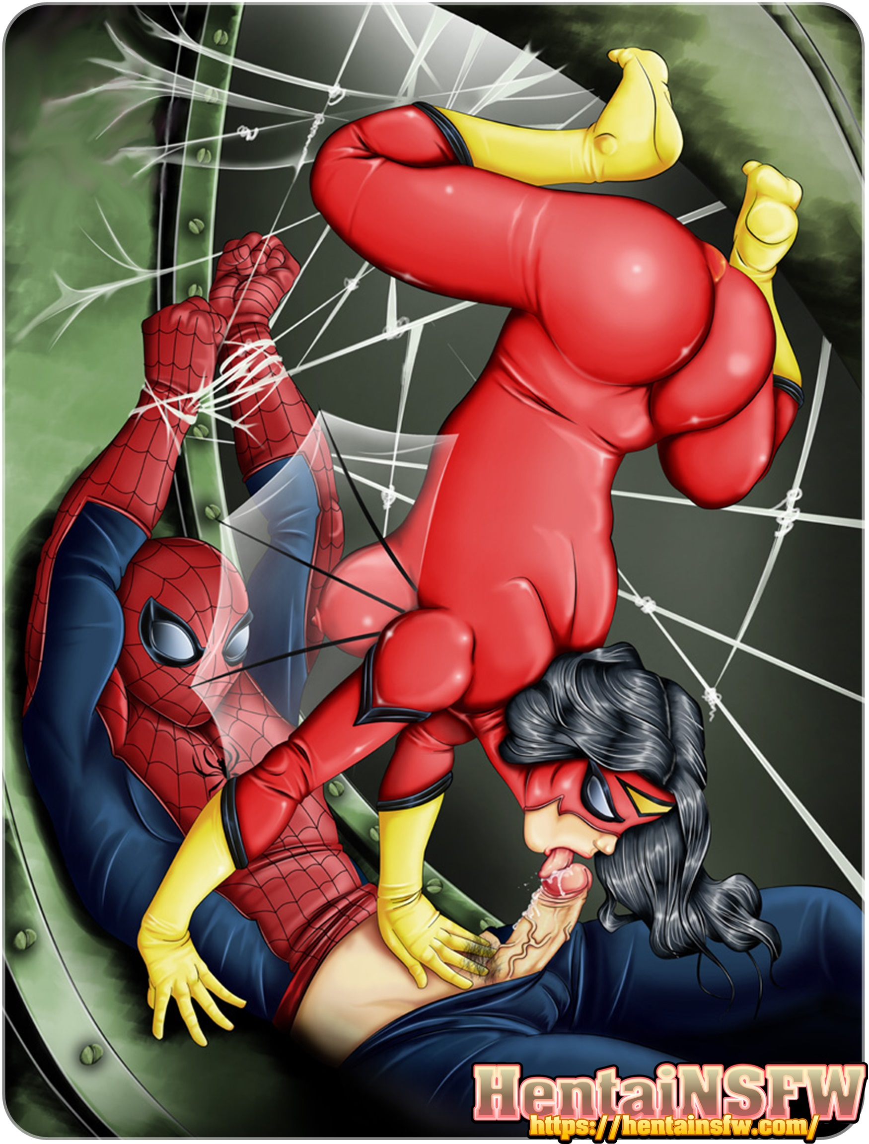 NSFWhentai marvelcomics spiderman spiderwoman cartoonporn